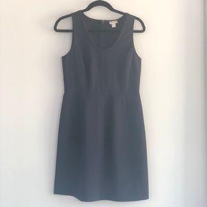 J. Crew sleeveless crepe dress in navy